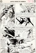 Original Comic Art:Panel Pages, Mike Sekowsky and Bernard Sachs Justice League of America#22 Story Page 8 Black Canary and Hawkman Original Art (...