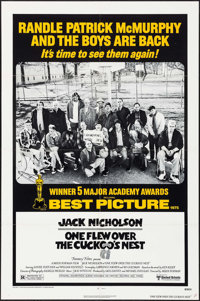 "One Flew Over the Cuckoo's Nest (United Artists, R-1978). One Sheet (27"" X 41""). Academy Award Winners"