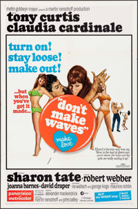 """Don't Make Waves (MGM, 1967). One Sheet (27"""" X 41"""") & Lobby Card Set of 8 (11"""" X 14""""). Comed..."""