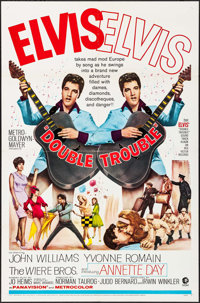 """Double Trouble (MGM, 1967). One Sheet (27"""" X 41""""). Elvis Presley"""