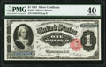 Large Size:Silver Certificates, Fr. 223 $1 1891 Silver Certificate PMG Extremely Fine 40.. ...