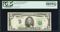 Error Notes:Obstruction Errors, Obstructed Overprint Fr. 1977-L $5 1981A Federal Reserve Note. PCGSChoice About New 58PPQ.. ...