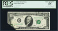 Error Notes:Foldovers, Printed Foldover Error Fr. 2018-B $10 1969 Federal Reserve Note.PCGS Choice About New 55.. ...