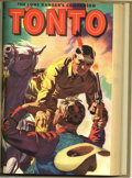 Golden Age (1938-1955):Western, The Lone Ranger's Companion Tonto and Famous Horse Hi-Yo Silver Bound Volumes (Dell, 1951-59). Three volumes featuring The... (4 items)