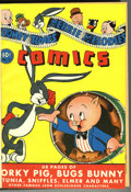 Golden Age (1938-1955):Humor, Looney Tunes and Merrie Melodies Comics #1-12 Bound Volume (Dell, 1941-42). This group of comics is highlighted by Issue #1,...