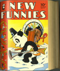 Golden Age (1938-1955):Cartoon Character, New Funnies #66-101 Bound Volumes (Dell, 1942-45). The early issuesof New Funnies (the series continued from Dell's fir... (3 items)