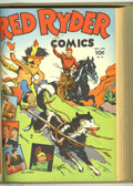 Golden Age (1938-1955):Western, Red Ryder Comics #13-84 Bound Volumes (Dell, 1943-50). These arefile copies which have been trimmed and bound into six hard...