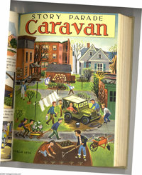 Story Parade and Story Parade Caravan Bound Volumes (Catechetical Guild, 1950-54). These are not comic books, but rather...