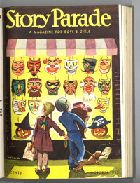 Story Parade Bound Volumes (Catechetical Guild, 1951-52). These are not comic books, but rather comic-sized magazines wi...