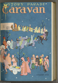 Story Parade Bound Volumes (Catechetical Guild, 1950-52). Unlike most of the bound volumes in our auction, these are not...