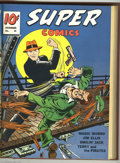 Golden Age (1938-1955):Miscellaneous, Super Comics #25-36 Bound Volume (Dell, 1940-41). These are Western Publishing file copies which have been trimmed and bound...