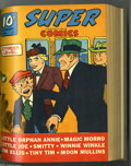 Golden Age (1938-1955):Miscellaneous, Super Comics #37-60 Bound Volumes (Dell, 1941-43). These are file copies which have been trimmed and bound into two hardcove...