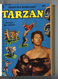 Tarzan #13-48 Bound Volumes (Dell, 1950-53). These are file copies which have been trimmed and bound into three hardcove...
