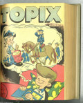 Golden Age (1938-1955):Miscellaneous, Topix V8#1-30 Bound Volume (Catechetical Guild, 1949-50) Condition: Average VG. This set of weekly comics prepared for Catho...