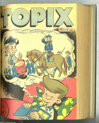 Topix V8#1-30 Bound Volume (Catechetical Guild, 1949-50) Condition: Average VG. This set of weekly comics prepared for C...