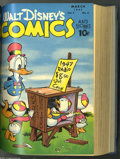 Golden Age (1938-1955):Cartoon Character, Walt Disney's Comics and Stories #73-108 Bound Volumes (Dell,1946-49). These comics feature Carl Barks art and include a co...