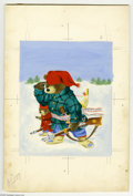 Original Comic Art:Sketches, Richard Scarry - Little Golden Book #212 Pierre Bear Cover and Story Illustrations Original Art, Group of 29 (Simon and Schust... (29 Original Art)