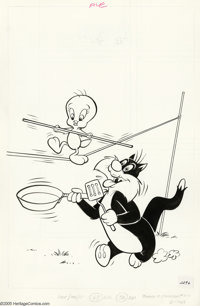 Western Publishing Artist - Tweety and Sylvester Cover Original Art, Group of 5 (Whitman, 1981-2). Tweety and Sylvester...