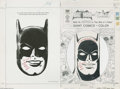 "Original Comic Art:Miscellaneous, Batman Giant Comics to Color Production Original Art (Whitman,1975). This superb lot contains the original art to ""Four Bir..."