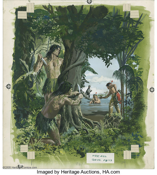 George Wilson Attributed Turok Son Of Stone 33 Cover Original Lot 6481 Heritage Auctions