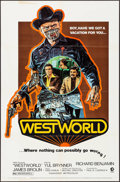 "Movie Posters:Science Fiction, Westworld (MGM, 1973). One Sheet (27"" X 41"") Style A, Neal AdamsArtwork & Mini Lobby Cards (4) (8"" X 10""). Science Fiction....(Total: 5 Items)"