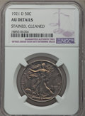 Walking Liberty Half Dollars, 1921-D 50C -- Cleaned, Stained -- NGC Details. AU. Mintage 208,000....