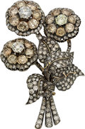 Estate Jewelry:Brooches - Pins, Diamond, Colored Diamond, Gold Convertible Jewelry. ...