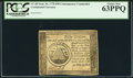 Colonial Notes:Continental Congress Issues, Continental Currency September 26, 1778 $50 Contemporary Counterfeit PCGS Choice New 63PPQ.. ...