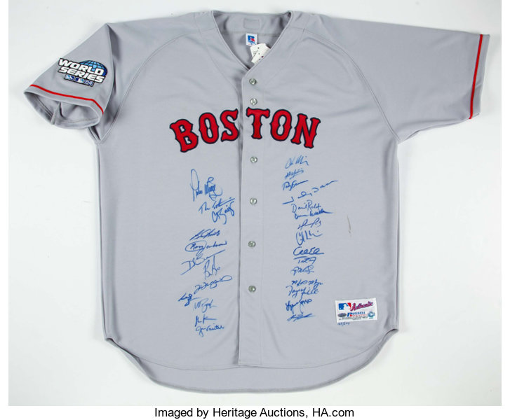 6e109c4dbc0 2004 Boston Red Sox Team Signed Jersey (27 Signatures) -