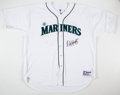 Autographs:Jerseys, Edgar Martinez Seattle Mariners Signed Jersey.. ...