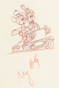 Animation Art:Production Drawing, Nifty Nineties Mickey and Minnie Mouse Animation Drawing(Walt Disney, 1941). ...