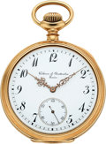 Timepieces:Wristwatch, Vacheron & Constantin 14k Gold Pocket Watch, circa 1904. ...