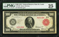 Large Size:Federal Reserve Notes, Fr. 1079b $100 1914 Red Seal Federal Reserve Note PMG Very Fine 25.. ...