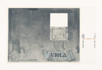 Jasper Johns (b. 1930) Viola, 1972 Lithograph in colors on Angoumois paper 25-5/8 x 40-1/2 inches