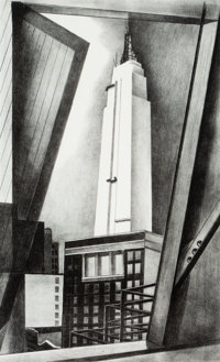 Ernest Fiene (1894-1965) Empire State Building, 1930 Lithograph on paper 14-3/8 x 8-5/8 inches (3
