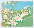 Prints & Multiples, Fairfield Porter (1907-1975). Apple Blossoms III, 1974. Lithograph in colors on wove paper. 20 x 25-1/4 inches (50.8 x 6...