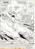 Original Comic Art:Panel Pages, Don Heck and Romeo Tanghal Justice League of America #203Story Page 1 Original Art (DC, 1982)....