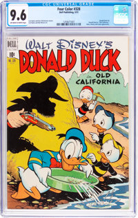 Four Color #328 Donald Duck (Dell, 1951) CGC NM+ 9.6 Off-white to white pages