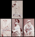 Autographs:Sports Cards, Signed 1947-66 Exhibits Baseball HoFers Lot of Four (4). . ...
