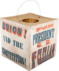 Political:3D & Other Display (pre-1896), George McClellan: Colorful, Rare Paper Parade Lantern....