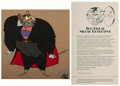 Animation Art:Production Cel, The Great Mouse Detective Ratigan Production Cel (WaltDisney, 1986)....
