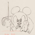 Animation Art:Production Drawing, Mickey's Grand Opera Mickey Mouse Animation Drawing (WaltDisney, 1936)....