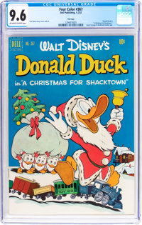 Four Color #367 Donald Duck - File Copy (Dell, 1952) CGC NM+ 9.6 Off-white to white pages