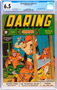 Daring Mystery Comics #2 (Timely, 1940) CGC FN+ 6.5 Light tan to off-white pages