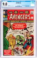 Silver Age (1956-1969):Superhero, The Avengers #1 (Marvel, 1963) CGC VF/NM 9.0 Off-white to whitepages....