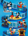 Memorabilia:Disney, Mickey Mouse Movies Through the Years Light-Up Limited Edition Poster #3077/5000 (Walt Disney, 1995)....