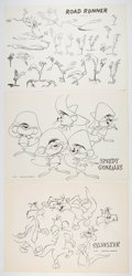 animation art:Model Sheet, Road Runner, Speedy Gonzales, and Sylvester Studio Model Sheet Print Group of 3 (Warner Brothers, 1960).... (Total: 3 Items)