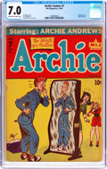 Golden Age (1938-1955):Humor, Archie Comics #7 (MLJ, 1944) CGC FN/VF 7.0 Cream to off-white pages....