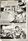 "Original Comic Art:Complete Story, Bob Powell The Adventures of Robin Hood #6 Complete 7-PageStory ""The Mystery Maze of Castle Hazard"" Original Art ... (Total:7 Original Art)"