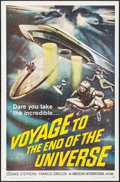 "Movie Posters:Science Fiction, Voyage to the End of the Universe (American International, 1964).One Sheet (27"" X 41""). Science Fiction.. ..."